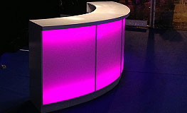 LED backlit bar octants